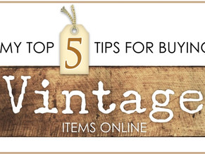 Top 5 Tips for buying vintage items online