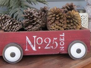 Little Red Christmas Wagon