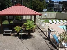 BBQ & pool area
