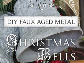 DIY Faux Aged Metal Christmas Bells