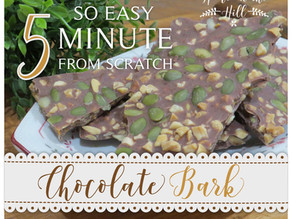 5 Minute sugar & dairy free Chocolate Bark - from scratch!