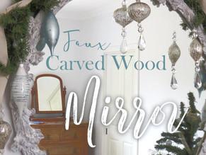 Mirror - Gold glitz to faux whitewashed wood