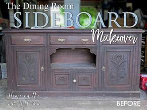 Dining Room Sideboard Makeover