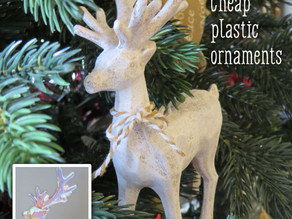 'Vintagise' cheap dollar store Christmas ornaments