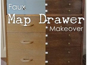 Faux Map Drawer Make Over