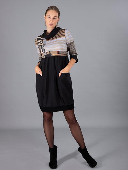 DOLCEZZA Poetic Metaphor Cowl Neck Dress Style 70648