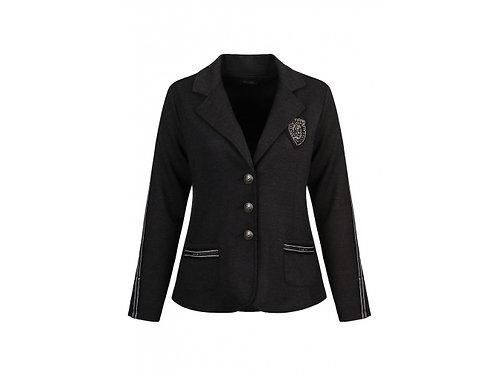 DOLCEZZA Charcoal Stretch Varsity Jacket Style 70150