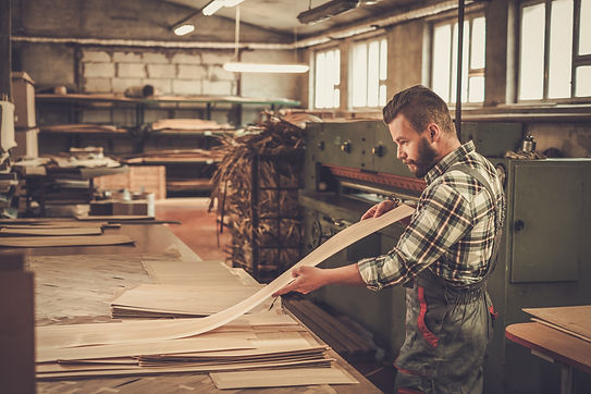 Woodworker at work