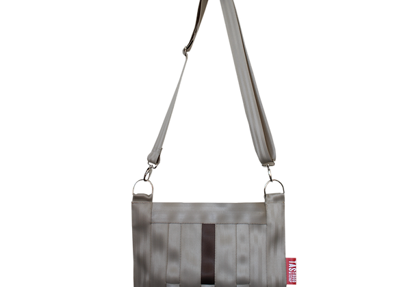 Shoulderbag Champagne with a brown touch