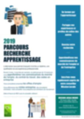 PARCOURS RECHERCHE APPRENTISSAGE flyer.p