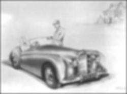 """The Original Painting of The Bentley Blizzard"""