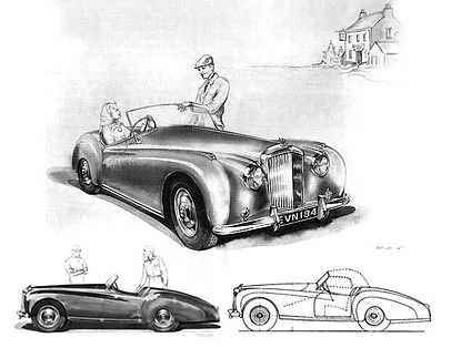 """The original painting and drawing of The Bentley Blizzard"""