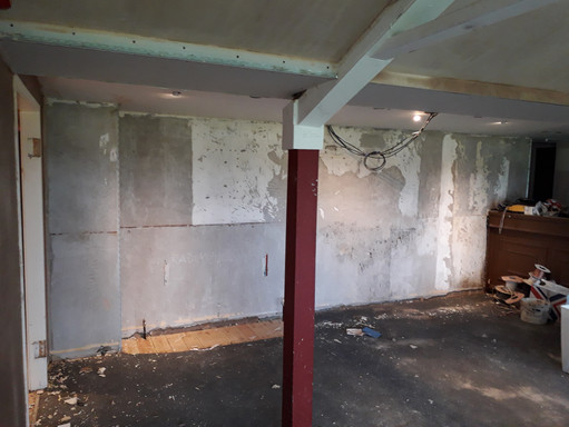 Pre plastered wall