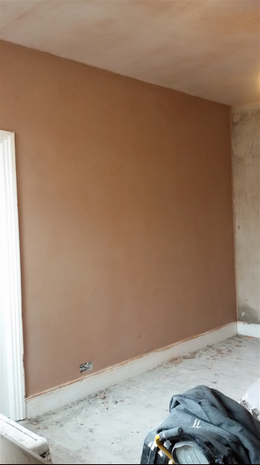 Newly plastered wall