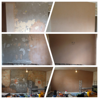 Plastering before and after pics