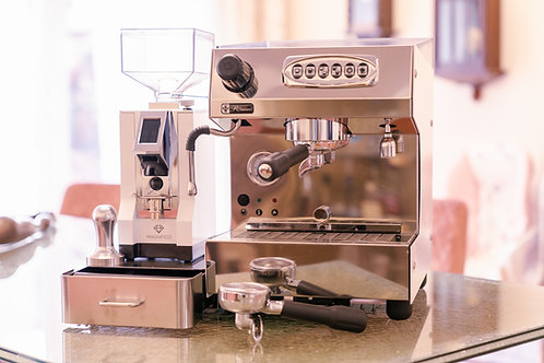 Romeo Alba bianca & Eureka Mignon Perfetto Kaffeemühle