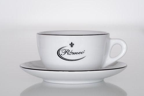 Romeo Milchkaffeetasse mit Untertasse