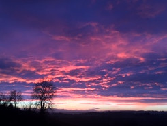 Amazing sunset from Y'Gelli Camping