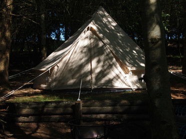 Bell Tent in shadows