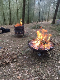Campfires in the wood