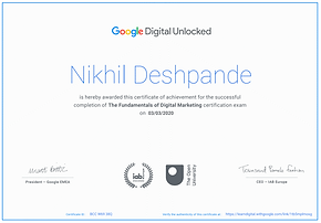 Fundamentals of Digital Marketing Certified