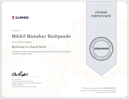 Coursera - Marketing in the Digital World