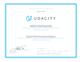 Udacity Digital Marketing Nano Degree