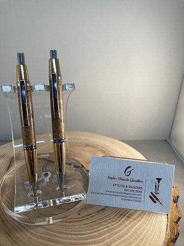 Ensemble stylo et pousse feuille d'érable ESPM 01