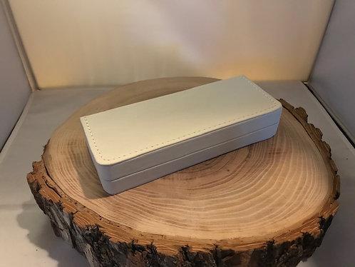 Coffrets en cuirette blanc CG -12