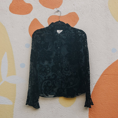 Camisa Preta Aveludada