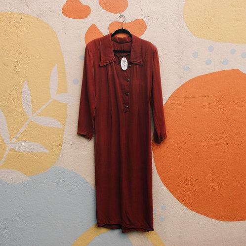 Vestido Bordô Vintage