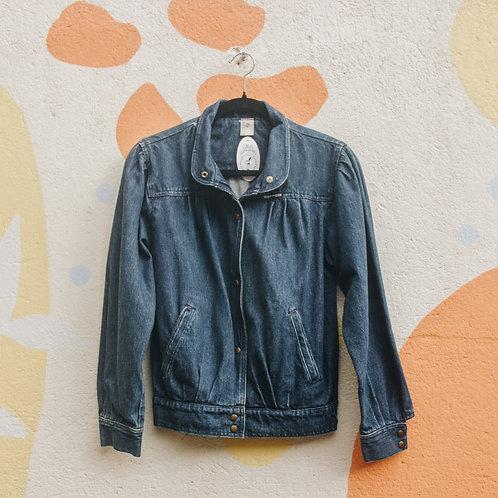 Jaqueta Jeans Vintage Azul Escuro