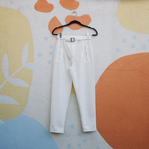 Calça Cintura Alta Off-White