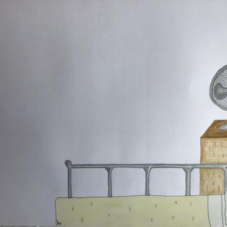Cerdd a Chelf: Dihuno yn yr ystafell wen - Sara Louise Wheeler