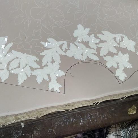 Floral  sequin detail