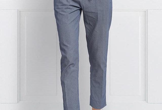 Blue High Waist Tie-Up Pants