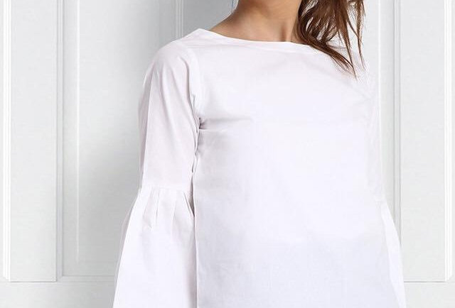 Bell sleeves white top