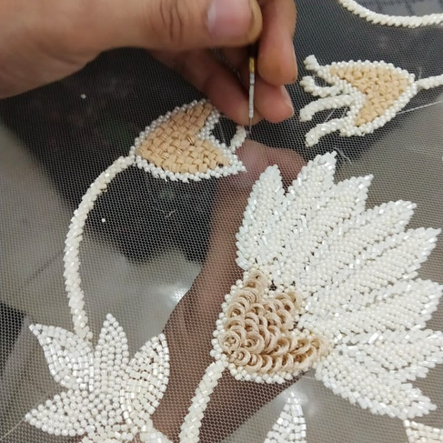 Bead embroidery details