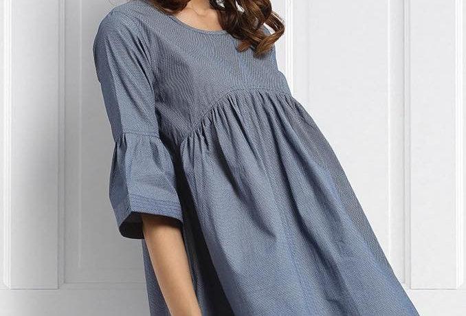 Ruffled oversized play dress