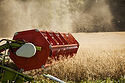 Combine Harvester on Field