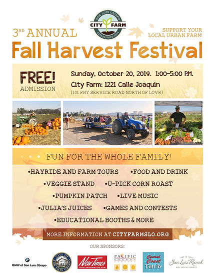 City Farm SLO Harvest Festival 2019 post
