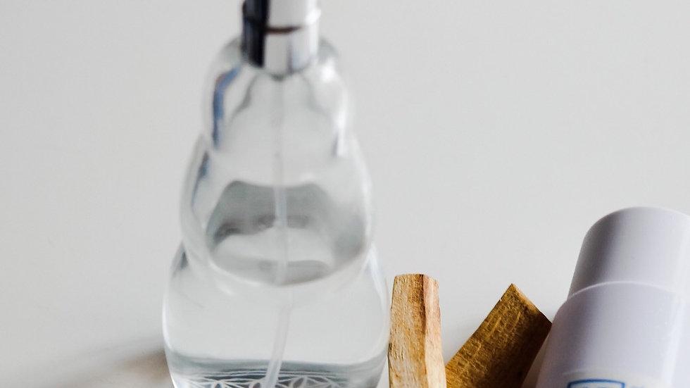 Flower of Life mist bottle with Palo Santo Hydrosol set 生命之花噴霧玻璃瓶連秘魯聖木純露套裝