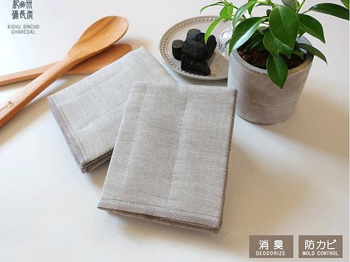 Kishu Bincho Charcoal Cloth 2pcs set