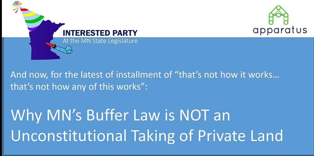 Minnesota buffer law is not a regulatory taking