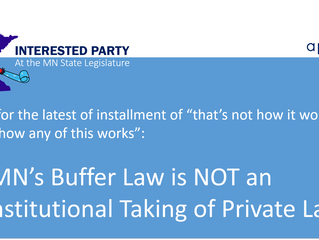 Why MN's Buffer Law is NOT an unconstitutional taking