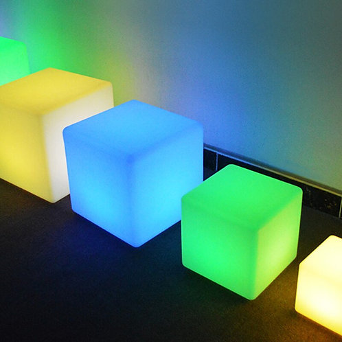 Colorful Changing Mood Cubes, Remote, Rechargeable