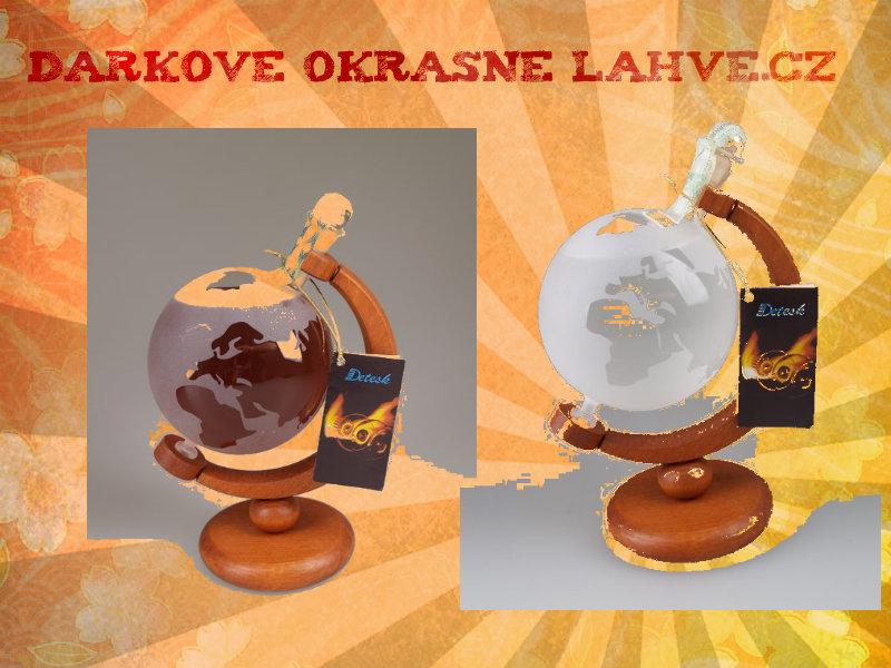 Dárková láhev globus