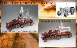 Dárková láhev traktor s destilačním
