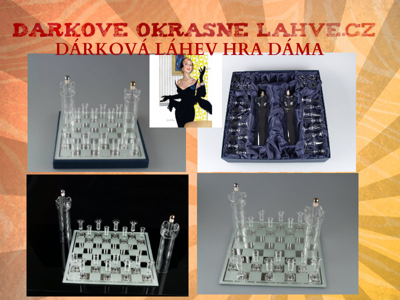 Dárková láhev Dáma sada hra