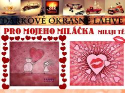 čokoláda s nápisem pro zamilované4 na valentína